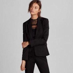 Express Black Classic One Button Blazer Jacket Sz8